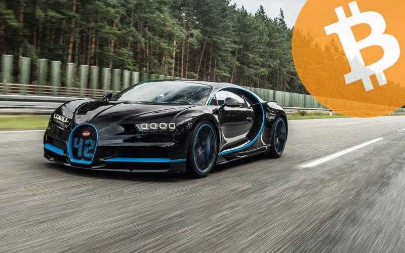 Bugatti pagada con Bitcoin