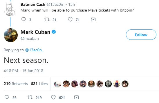 Mark Cuban Bitcoin Dallas Maverick