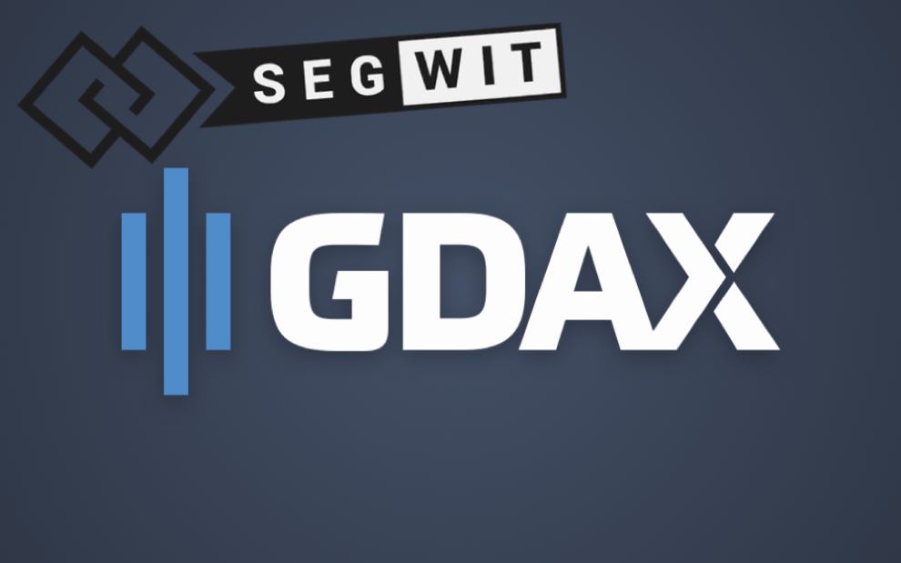 GDAX implementa SegWit