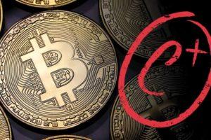 bitcoin c+ explicación de weiss ratings