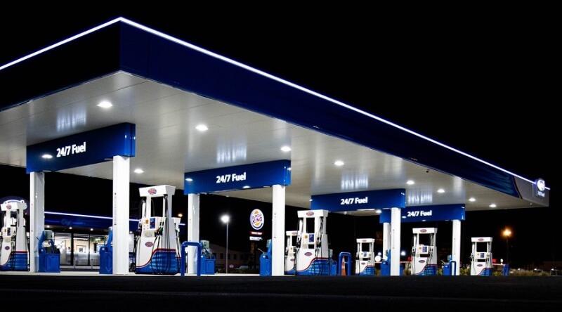 Gasolinera en Holanda